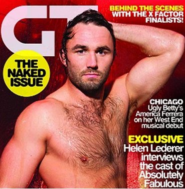 ... has manned up and stripped down for the new issue of Gay Times magazine.