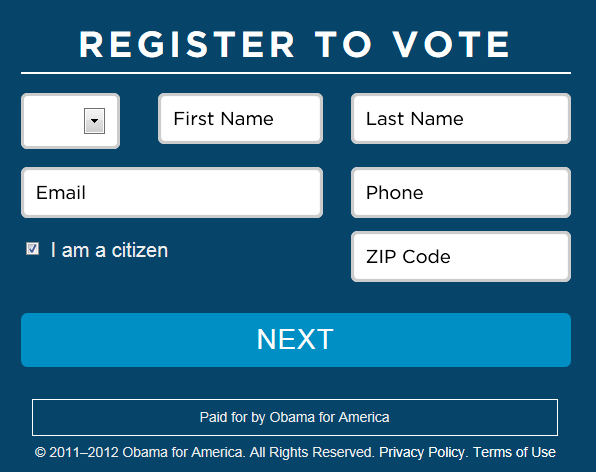 REGISTER TO VOTE ONLINE HERE