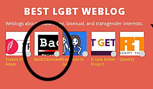 Bloggie Finalist - Back2Stonewall