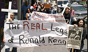 Ronald Regan croaks