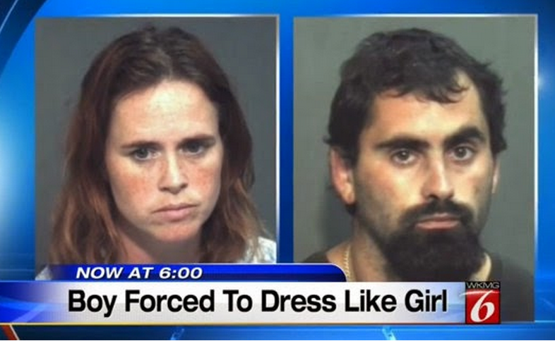 Boy Forcged To Dress Like Gril