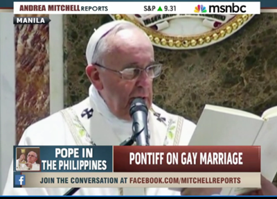 Pope francis and gay marriage