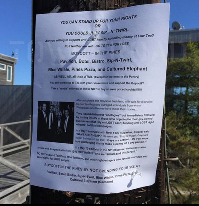 Fire Island boycott 2