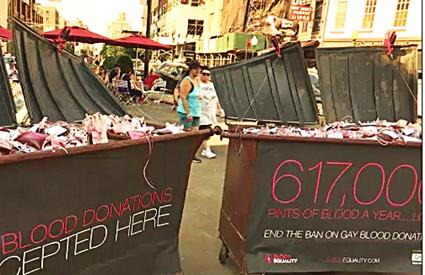 Gay Blood Ban Art At Chelsea Market