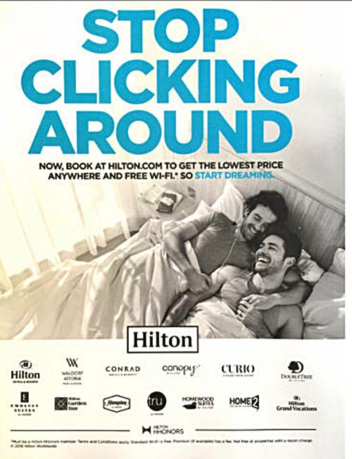 Hilton Hotel Gay Ad