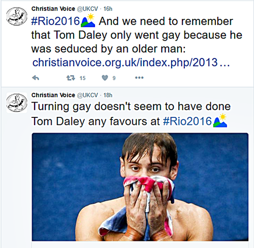 """Brit """"Christian"""" LGBT Hate Group Says Tom Daley's Olympic Dream Ended Because He """"Turned Gay"""""""