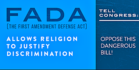 GOP To Re-Introduce National Right To Discriminate First Amendment Defense Act