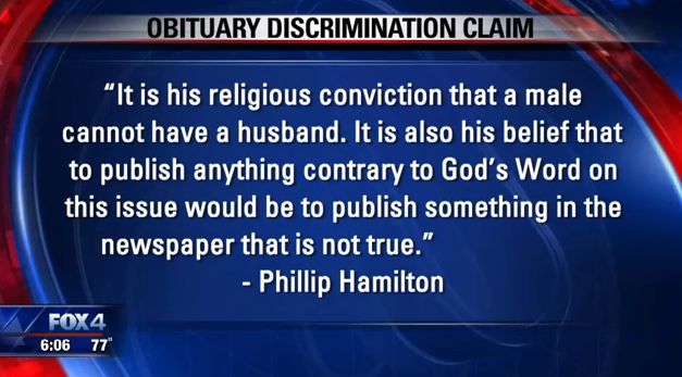 Newspaper Removes Gay Man's Husband from Obituary for 'Religious and Ethical' Reasons