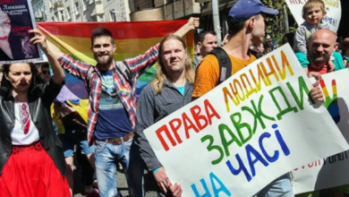Thousands Hold Gay Pride March in Kiev, Ukrainian