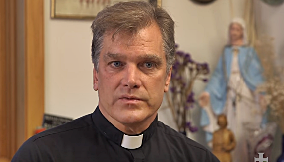 """Chicago Priest Who Burned Rainbow Banner Says """"Homosexualists"""" Have Driven Him Into Hiding"""