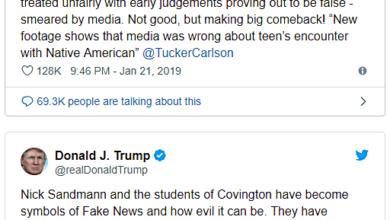Donald Trump: Covington Catholic Students Are Symbols Of Fake News!