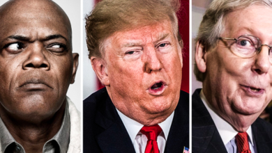Samuel L. Jackson Calls Mitch McConnell and Donald Trump Racist Assholes.
