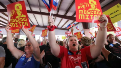 """Chants of """"Moscow Mitch"""" Follow McConnell to Fancy Farm Political Event in Kentucky"""
