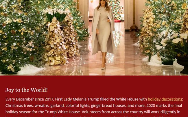 Trump White House Christmas Tour Concedes to Joe Biden