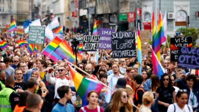 Hundreds Take To The Streets of BOSNIA For PRIDE To March For LGBT Rights.