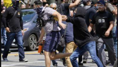 Anti-Vax/Q/Proud Boy Protest Turns Into Violent Meele, Multiple Injuries In Cali